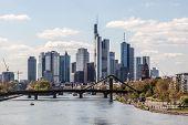 stock photo of frankfurt am main  - Downtown skyline of the Frankfurt Main City Germany - JPG