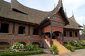 picture of minangkabau  - The traditional house of people in Western Sumatra - JPG