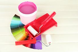 picture of paint pot  - Set for painting - JPG