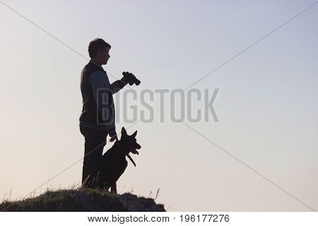 Man And His Dog Stand