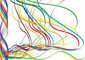 Abstract background. Colored lines. Vector.