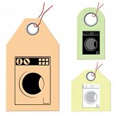 Set of the tags. Home appliances.
