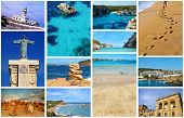 collage with different views of Menorca, Balearic Islands, Spain