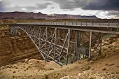 Old Navajo Bridge Spanning The  Colorado At Marble Canyon