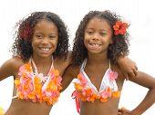 Hula Girl Twins