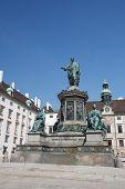 Постер, плакат: Monument To Emperor Franz I Of Austria kaiser Franz Denkmal In The Innerer Burghof Vienna Austria