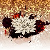 Abstract Illustration With Lotus