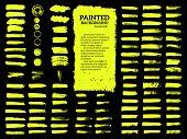 Painted Grunge Stripes Set. poster