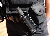 Police Utility Belt With Batton (asp)