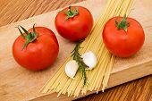 Italian Spaghetti Ingredients poster