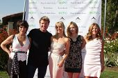 LOS ANGELES, 11 de julho: Lesli Kay, Winsor Harmon, Birgit C. Muller, Ashley Jones, Daniella Peters.arri
