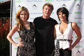 LOS ANGELES, 11 de julho: Ashley Jones, Winsor Harmon, Lesli Kay chegam no Fashion Birgit C. Muller