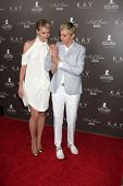 LOS ANGELES - JUL 22:  Portia DeRossi & Ellen DeGeneres arrive at the Neil Lane Bridal Collection De