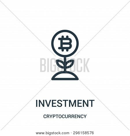 poster of Investment Icon Isolated On White Background From Cryptocurrency Collection. Investment Icon Trendy