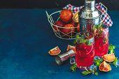 Cocktail Bloody Orange Margarita In Highball Glass poster