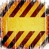 picture of warning-signs  - Warning Background Texture With Common Black and Yellow Stripes - JPG