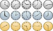 Fifteen Different Clock Faces