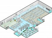 Supermarket Vector Isometric