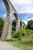 An image of the Ravenna Bridge railway viaduct on the Höllental Railway line in the Black Forest, i poster