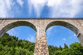 An image of the Ravenna Bridge railway viaduct on the Höllental Railway line in the Black Forest, poster