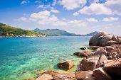 Beautiful Paradise Tropical Island Koh Tao Thailand On Beautiful Nature Seascape Background  On Beau poster