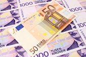Euro & Norwegian Currency