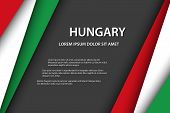 Vector Background With Hungarian Colors And Free Grey Space For Your Text, Hungarian Flag, Made In H poster