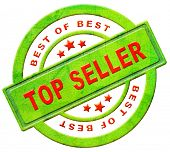 top seller icon bestseller best seller red text on green button for online internet web shop sales c