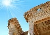 Antiquity Greek City- Ephesus. Rays