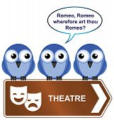 Bird theatre sign