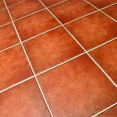 Ceramic tiled floor