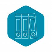 Archive Folders Icon. Outline Illustration Of Archive Folders Vector Icon For Web poster