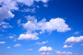 Deep blue sky and clouds, may be used as background