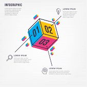 Thin Line Minimal Info-graphic Design Template. Vector Element For Info-graphic poster
