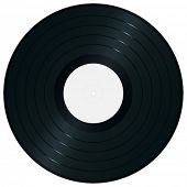 Single gramophone record. High-detailed vector artwork.
