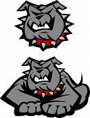 Bulldog mascota cuerpo Vector Illustration