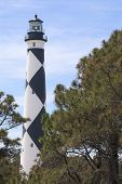 pic of outer core  - A historic lighthouse guiding ships away from rocky shoals - JPG