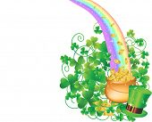 pic of pot gold  - Pot of Gold and Rainbow - JPG