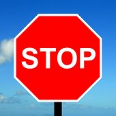 Stop and give way traffic sign