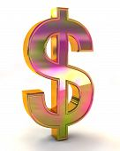 Dollar Sign 3D Illustration