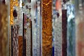 pic of windchime  - Hanging abstract glass peaces in different colors - JPG