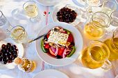 Greek Salad With White Wine