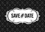 pic of damask  - Vector Save the Date Ornate Frame - JPG