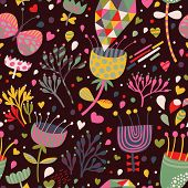 Bright floral seamless pattern for incredible backgrounds