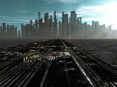 picture of environmental pollution  - Road to dead city - JPG