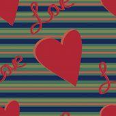 Muted Stripe Love Pattern