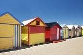 Attractive Bathing Boxes At Brighton Beach Australia