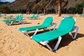 Tropical Beach Chaise-longues