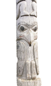 picture of tlingit  - Traditional native totem pole in Prince Rupert British ColumbiaCanada - JPG