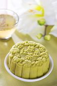 stock photo of mid autumn  - Snowy skin mooncakes - JPG